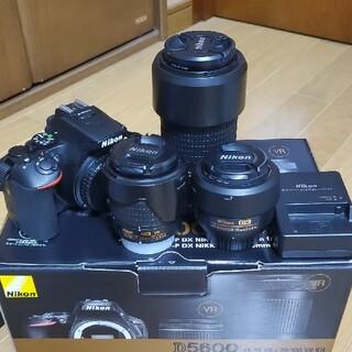 Nikon - 【保証書付き】D5600ダブルズーム&単焦点レンズセット