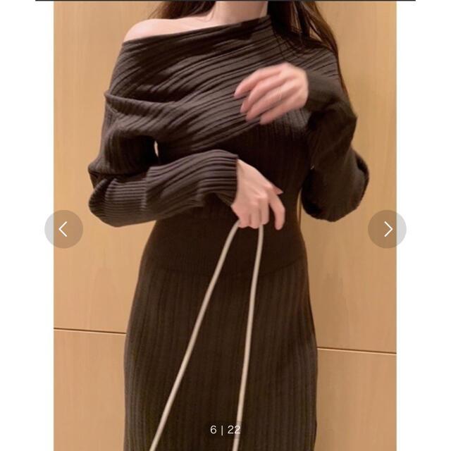 snidel(スナイデル)のsnidel ワンショルリブワンピース レディースのワンピース(ロングワンピース/マキシワンピース)の商品写真