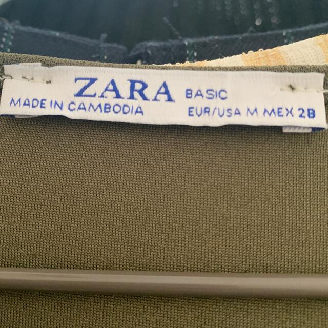 ZARA(ザラ)のZARA スカーフベルト付 ワンピース レディースのワンピース(ひざ丈ワンピース)の商品写真