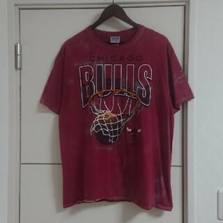 JUNK FOOD - NBA シカゴ・ブルズ Tシャツ ブリーチ加工 古着 ビッグプリント
