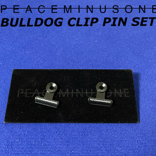 ピースマイナスワン(PEACEMINUSONE)のレア PMO bulldog clip pin set #1 バッジ 韓国(その他)