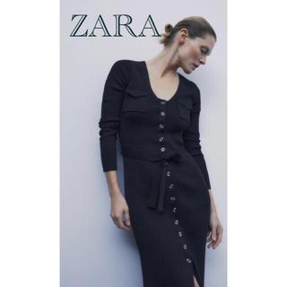 ZARA - 新品・未使用 ZARA ボタン付きロングワンピース