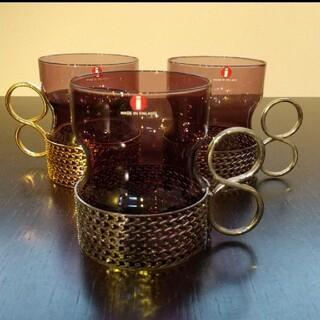 イッタラ(iittala)のイッタラ ツァイッカ グラス パープル シルバーメタルホルダー 1つ (グラス/カップ)