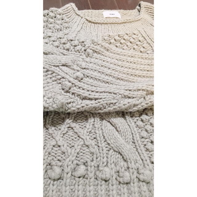 IENA(イエナ)のりりり様専用✴︎IENA 手編みケーブルプルオーバー ベージュ レディースのトップス(ニット/セーター)の商品写真