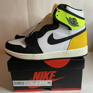 ナイキ(NIKE)の25 NIKE AIR JORDAN 1 RETRO HIGH OG VOLT(スニーカー)