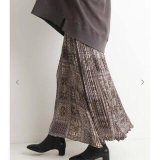 IENA SLOBE - スローブイエナ パネル柄プリーツスカート