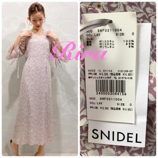 snidel - 完売色🌷新作新品🍀 パフスリーブプリントIラインワンピース