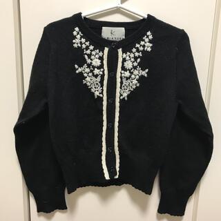 クミキョク(kumikyoku(組曲))の組曲クミキョク セーター 黒色 Mサイズ 110〜120(カーディガン)