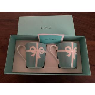 Tiffany & Co. - ティファニー TIFFANY ペア マグカップ ブルーリボン 新品未使用