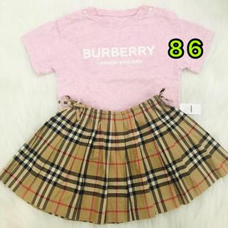 BURBERRY - Burberry バーバリー Tシャツ 18m 86 キッズ ベビー ピンク