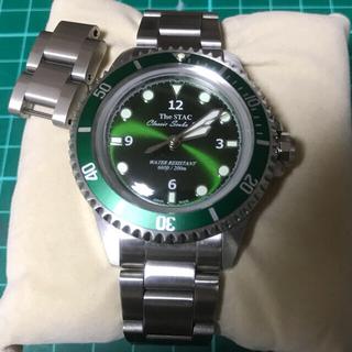 セイコー(SEIKO)のThe STAC スイープ 自動巻 運針 国産 ドーム風防 ダイバー 200m(腕時計(アナログ))