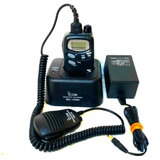 ICOM 特定小電力トランシーバー IC-4008BD 急速充電器 マイク(アマチュア無線)