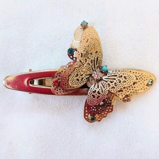 acca - acca アッカ 蝶のデザインのクリップ ゴールドベースに8色のストーン付き