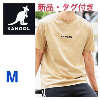 カンゴール(KANGOL)の《新品タグ付き》KANGOL ベージュ ロゴ入り半袖ロンT Mサイズ 男女兼用(Tシャツ/カットソー(半袖/袖なし))