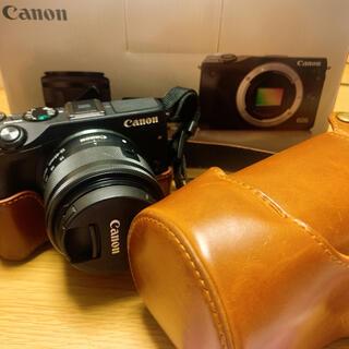 キヤノン(Canon)のCanon eos m3 wレンズキット ブラック(ミラーレス一眼)