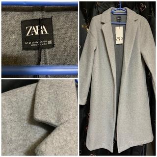ザラ(ZARA)のZARA タグ付き新品未使用 冬グレーコート(ロングコート)