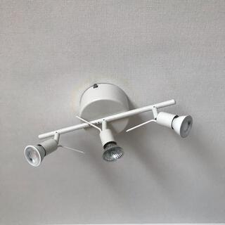 イケア(IKEA)のIKEA 3灯シーリング×DiCUNO LED電球 3000K 120V セット(蛍光灯/電球)