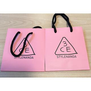 3ce - 3ce スリーシーイー ショップ袋 紙袋 2袋セット
