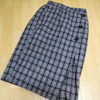 シマムラ(しまむら)のしまむら プチプラのあや タイトスカート ツイード(ひざ丈スカート)