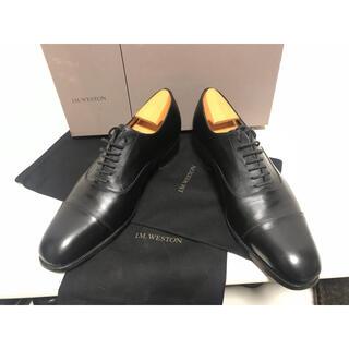 J.M. WESTON - jmウエストン ストレートチップ シューツリー付き 黒 冠婚葬祭 内羽式 革靴