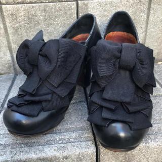 トゥモローランド(TOMORROWLAND)のCHIE MIHARA チエミハラ 黒 パンプス ローファー(ローファー/革靴)