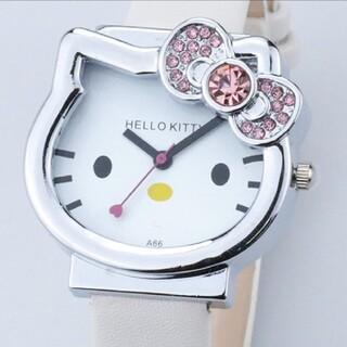 ハローキティ!腕時計ホワイト(キラキラ!リボンピンク)(腕時計)
