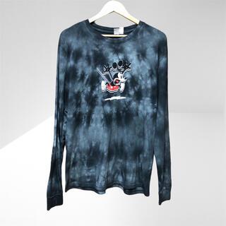 エイチアンドエム(H&M)のH&M ミッキー コラボ 染め ロングTシャツ(Tシャツ/カットソー(七分/長袖))