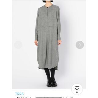 Spick and Span - 美品 TICCA ティッカ ウール ノーカラーワンピース