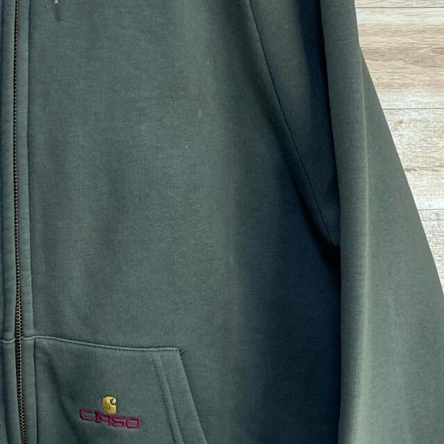 carhartt(カーハート)の【人気カラー】カーハート×G1950 限定コラボパーカー フルジップ Mカーキ メンズのトップス(パーカー)の商品写真