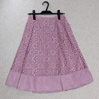 JUSGLITTY - スエード カットワークレーススカート