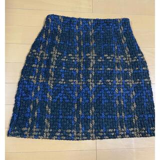 SLY - スライ 冬物素材厚手チェック柄タイトスカートサイズ1