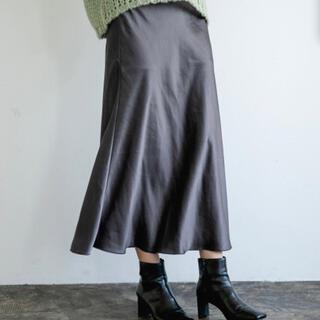 apart by lowrys - Pサテンマーメイドスカート チャコールグレー