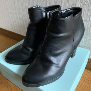 イーボル(EVOL)の【ILIMA】黒 ショートブーツ(ブーツ)