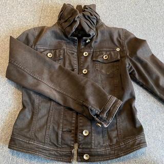 アルマーニジーンズ(ARMANI JEANS)のアルマーニジーンズ ブラックデニムジャケット サイズ38(Gジャン/デニムジャケット)