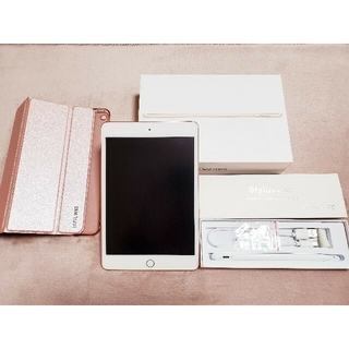 iPad - 【美品】iPad mini5 64GB Wi-Fi ゴールド (ペン、ケース付)
