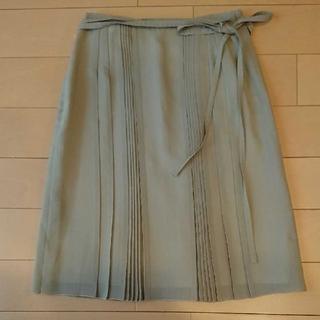 レイビームス(Ray BEAMS)のレディースプリーツスカート グレー(ひざ丈スカート)