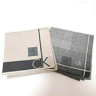 シーケーカルバンクライン(ck Calvin Klein)のカルバンクライン ck calvin klein ハンカチ 2枚セット(ハンカチ/ポケットチーフ)
