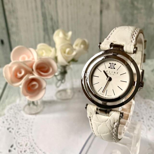 celine(セリーヌ)の【美品】セリーヌ CELINE 腕時計 シルバー マカダム レディース レディースのファッション小物(腕時計)の商品写真