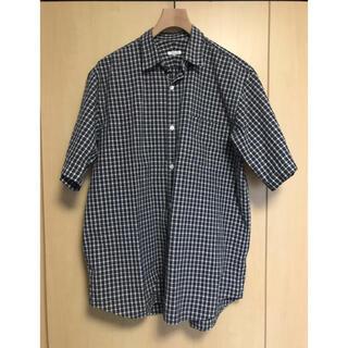 コモリ(COMOLI)のcomoli 19ss コモリシャツ 半袖 タータンチェック サイズ2(シャツ)