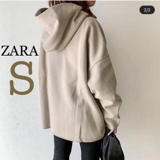 ZARA - 新品未使用 ZARA グレージュパーカー フーディ S ザラ
