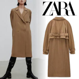 ZARA - 新品タグ付き ZARA ザラ プリーツ加工入りトレンチコート