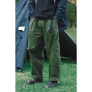 COMOLI - KUON Poland Army Tent Cloth Wide Pants