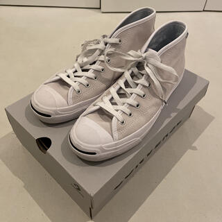 CONVERSE - 美品 Cons jack purcell mid ホワイト 27.0cm