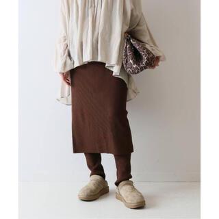 FRAMeWORK - ブラウン38 新作 FRAMeWORK C/PEレギンス付きスカート