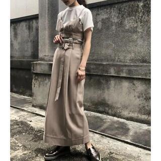 アメリヴィンテージ(Ameri VINTAGE)の&g'aime  ロングスカート タイトスカート  ベージュ(ロングスカート)