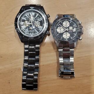 時計 二個セット (金属ベルト)