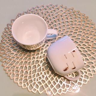 フランフラン(Francfranc)のカフェ風 スープカップ グランデサイズ◆2個 大きいカップ ビッグマグ ラテ(食器)