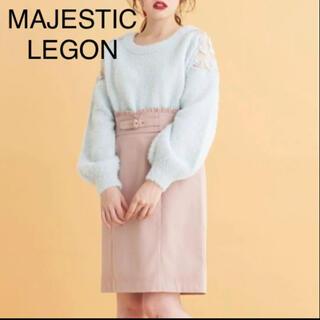 MAJESTIC LEGON - マジェスティクレゴン ハイウエスト タイトスカート