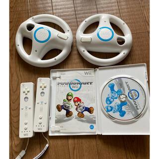Wii - マリオカートWii ハンドル リモコン ソフト セット