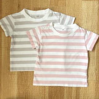 MUJI (無印良品) - 無印良品 キッズTシャツ2枚セット 80